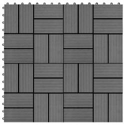 Sonata 11 бр декинг плочки, WPC, 30x30 см, 1 кв.м., сиви - Подови настилки