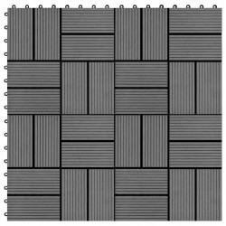 Sonata 11 бр декинг плочки, WPC, 30x30 см, 1 кв.м., сиви - Сравняване на продукти