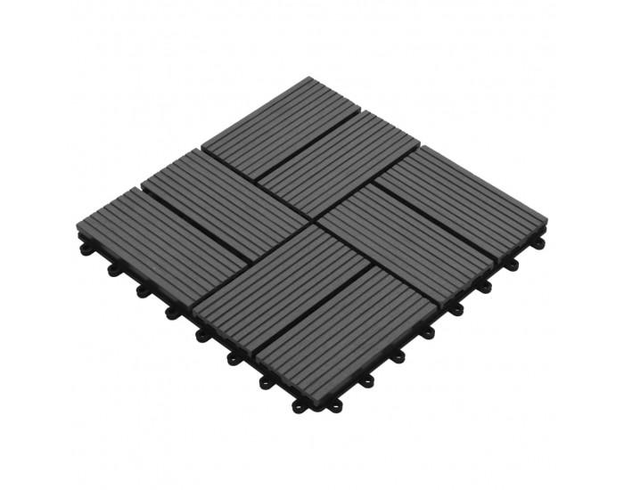Sonata 11 бр декинг плочки, WPC, 30x30 см, 1 кв.м., сиви -