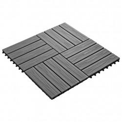 Sonata 11 бр WPC декинг плочки релефни 30x30 см 1 кв.м. сиви - Сравняване на продукти