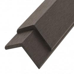 Sonata Ъглови профили за WPC декинг, 5 бр, 170 см, тъмнокафяви - Подови настилки
