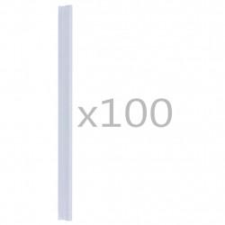 Sonata 100 бр клипса за ограда, PVC, прозрачни - Огради