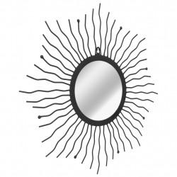 Sonata Градинско стенно огледало, слънчеви лъчи, 60 см, черно - Огледала