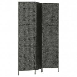 Sonata Параван за стая, 3 панела, черен, 116x160 cм, воден хиацинт - Аксесоари за Всекидневна