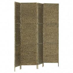 Sonata Параван за стая, 4 панела, кафяв, 154x160 cм, воден хиацинт - Аксесоари за Всекидневна