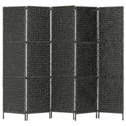 Sonata Параван за стая, 5 панела, черен, 193x160 cм, воден хиацинт - Аксесоари за Всекидневна