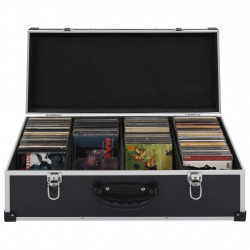 Sonata CD куфар за 80 диска, алуминий, ABS, черен - Куфари и Чанти