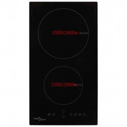 Sonata Индукционен плот с 2 котлона, сензорен контрол, стъкло, 3500 W - Котлони