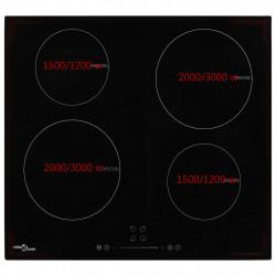 Sonata Индукционен плот с 4 котлона, сензорен контрол, стъкло, 7000 W - Котлони
