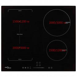 Sonata Индукционен плот с 4 котлона, сензорен, разширяема зона, 7000 W - Котлони