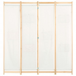 Sonata Параван за стая, 4 панела, кремав, 160x170x4 cм, текстил - Аксесоари за Всекидневна