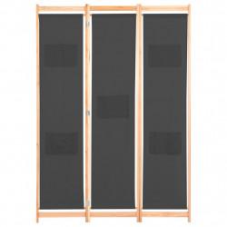 Sonata Параван за стая, 3 панела, сив, 120x170x4 cм, текстил - Аксесоари за Всекидневна