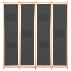 Sonata Параван за стая, 4 панела, сив, 160x170x4 cм, текстил - Аксесоари за Всекидневна