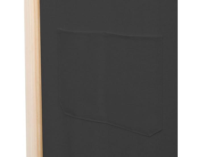 Sonata Параван за стая, 4 панела, сив, 160x170x4 cм, текстил -