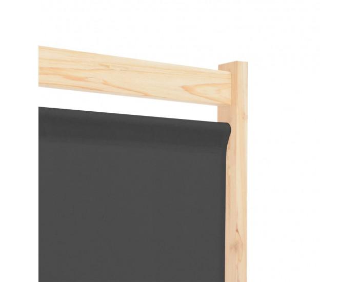 Sonata Параван за стая, 5 панела, сив, 200x170x4 cм, текстил -