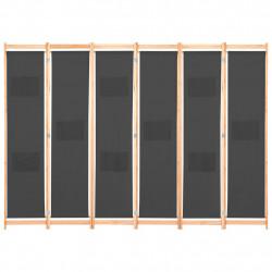 Sonata Параван за стая, 6 панела, сив, 240х170х4 cм, текстил - Аксесоари за Всекидневна