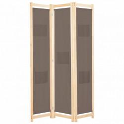 Sonata Параван за стая, 3 панела, кафяв, 120x170x4 cм, текстил - Аксесоари за Всекидневна