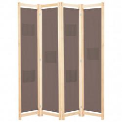 Sonata Параван за стая, 4 панела, кафяв, 160x170x4 cм, текстил - Аксесоари за Всекидневна