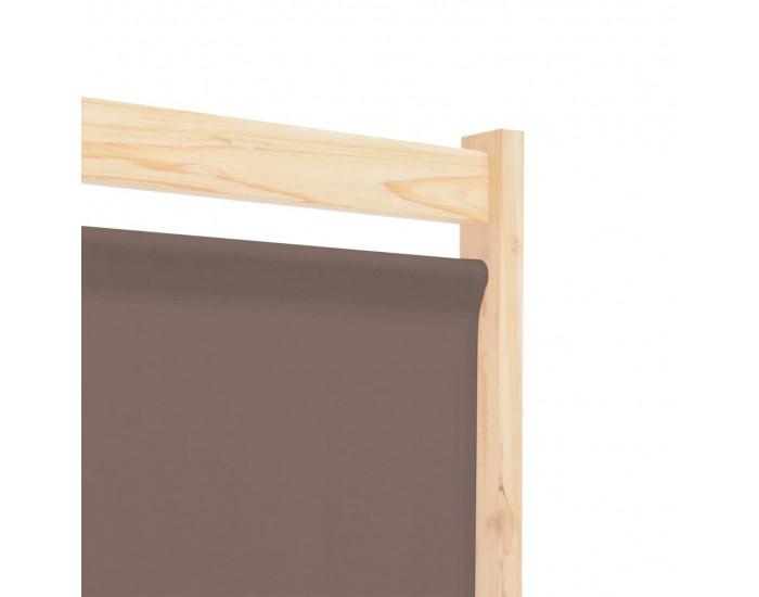 Sonata Параван за стая, 5 панела, кафяв, 200x170x4 cм, текстил -