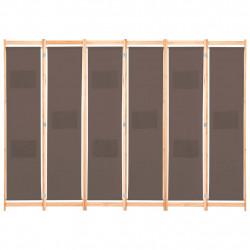 Sonata Параван за стая, 6 панела, кафяв, 240х170х4 cм, текстил - Аксесоари за Всекидневна