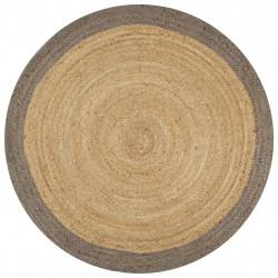Sonata Ръчно тъкан килим от юта, сив кант, 90 см - Килими, Мокети и Подложки