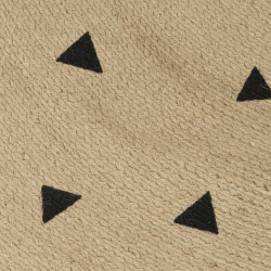 Sonata Ръчно тъкан килим от юта, принт на триъгълници, 90 см - Килими, Мокети и Подложки