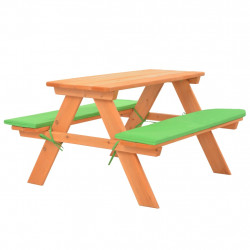 Sonata Детска маса за пикник с пейки, 89x79x50 см, ела масив - Градински комплекти