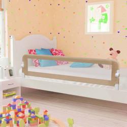 Sonata Ограничител за бебешко легло, таупе, 180x42 см, полиестер - Мебели за детска стая