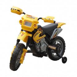Детски електрически мотор, жълт - Детски превозни средства
