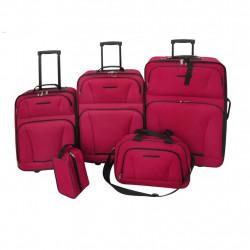 Sonata Комплект за път, 5 части , цвят червен - Куфари и Чанти