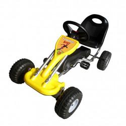 Sonata Детски картинг с педали, цвят жълт - Детски превозни средства