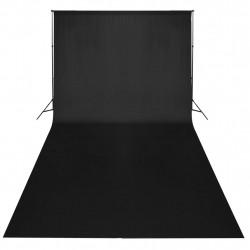 Sonata Фотографски фон, памук, черен, 300х300 см - Обзавеждане на Бизнес обекти