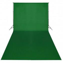 Sonata Фотографски фон, памук, зелен, 600х300 см, Chroma Key - Обзавеждане на Бизнес обекти