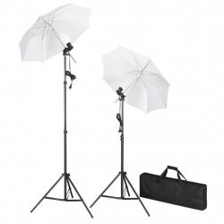 Комплект за студийно осветление с два чадъра - Обзавеждане на Бизнес обекти