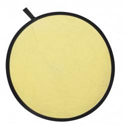 Отражателен диск 2 в 1, сребрист и златист, 80 см. - Обзавеждане на Бизнес обекти