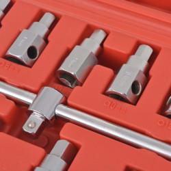 Sonata Комплект ключове за картер с върток с вложка 3/8'' - Инструменти