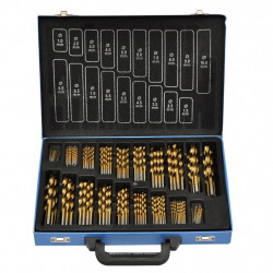 Свредла за бормашина в метална кутия, 170 броя - Градинска техника