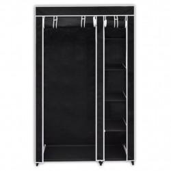Sonata Сгъваем гардероб, черен, 110 x 45 x 175 см - Гардероби