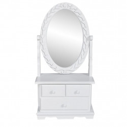 Sonata Тоалетка с регулируемо овално огледало, МДФ - Тоалетки