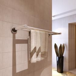 Стойка за кърпи от неръждаема стомана с 2 тръби - Продукти за баня и WC