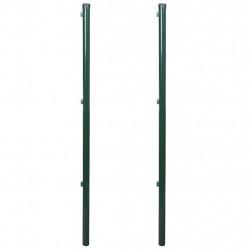 Железен ограден стълб, 115 см, 2 броя - Огради