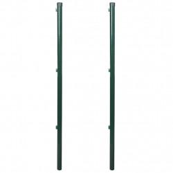 Железен ограден стълб, 150 см, 2 броя - Огради