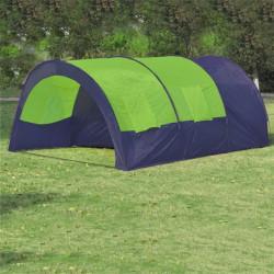 Палатка за къмпинг за 6 човека от полиестер, синьо и зелено - Палатки