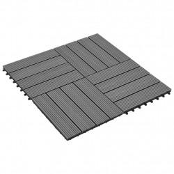WPC декинг плочки сиви, 30х30 см, 11 бр, 1 м² - Подови настилки
