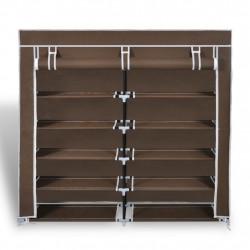 Sonata Платнен шкаф за обувки с покривало 115 х 28 х 110 см, кафяв - Шкафове за обувки