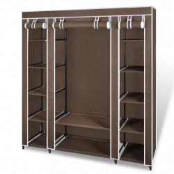 Sonata Текстилен гардероб с отделения и летви, 45 x 150 x176 см, кафяв - Гардероби