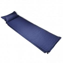 Въздушен матрак 6 x 66 x 200 см с възглавница, цвят син - Аксесоари за пътуване
