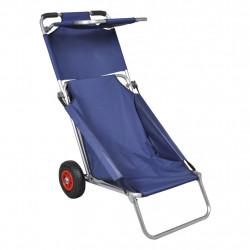 Sonata Плажна количка с колела, преносима, сгъваема, синя - Шезлонги