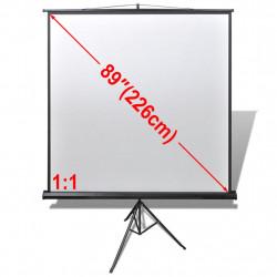 Прожекционен екран на статив, с регулирума височина,160 x 160 см, 1:1 - Аксесоари за Всекидневна
