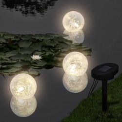 Плуващи соларни LED лампи – сфери за басейн – 3 бр. - Басейни и Спа
